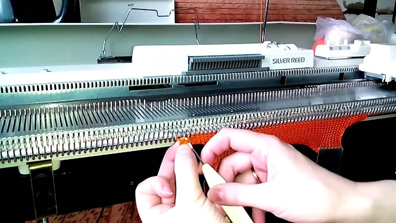 Вязание на машине silver reed 13