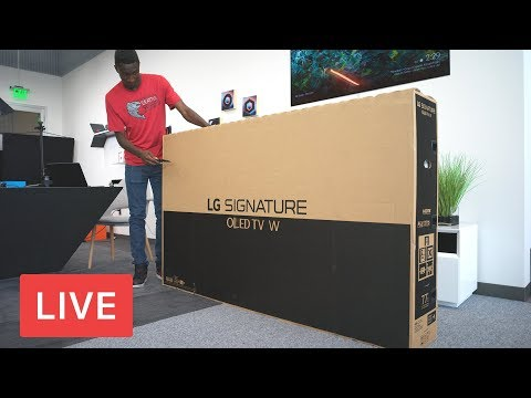 "LG 77"" Wallpaper TV Unboxing [LIVE]"