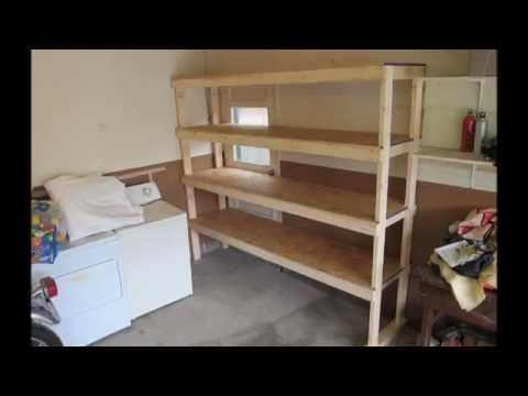 How To Build A Shelf For The Garage Or Basement Youtube