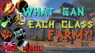 Dire Maul Gold Farming | Each class and how they can make gold in Dire Maul | Classic WoW