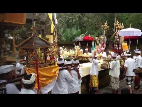 Hindu Religious Ritual at Pura Tirta Empul Ubud Bali Indonesia...