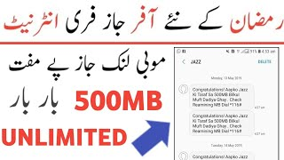 Jazz Free Internet Code 2019-How To Use Free Internet On Mobilink Warid Free Internet New Code 2019