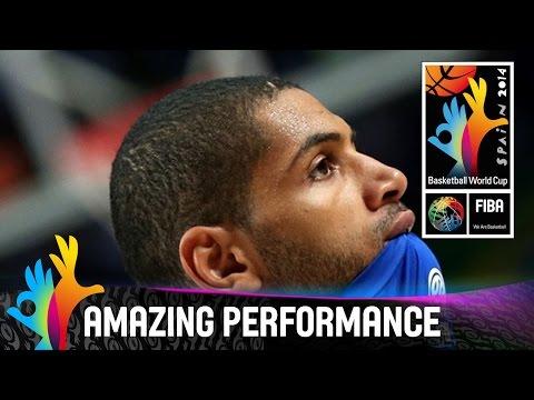 Nicolas Batum - Amazing Performance - Semi-final - 2014 Fiba Basketball World Cup video