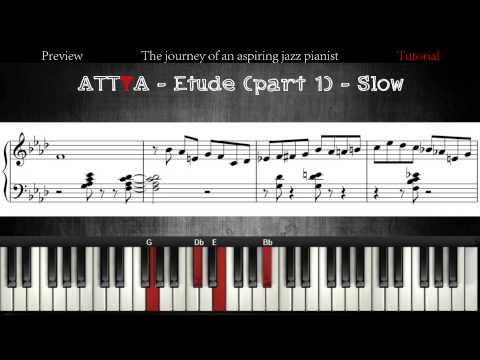 All The Things You Are - Improvisation Etude - Part 1 │Jazz Piano Lessons #2