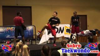 Taekwondo training  Cut Kick and counterattack with a face Kick