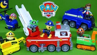 Paw Patrol Toy Collection Ultimate Rescue Mini Vehicles Fireman Chase Marshall Fire Truck Toy Video