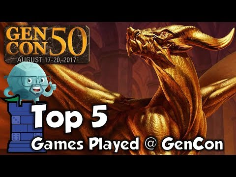 Top 5 Games Played at GenCon 50 with Sam Healey