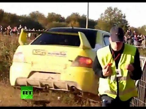 Rally Car Racing Crashes Race Crash Video Car Ploughs