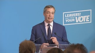 Campaign Live: Nigel Farage makes campaign speech in London | ITV News