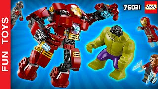 Marvel Super Heroes Adventure with Hulk, Hulkbuster, Iron Man, Scarlet and Ultron Toy Lego set 76031