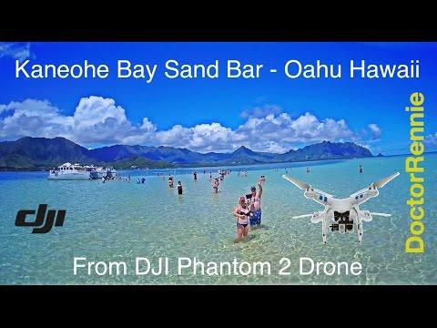Kaneohe Bay Sand Bar, Oahu beach, Hawaii drone travel video