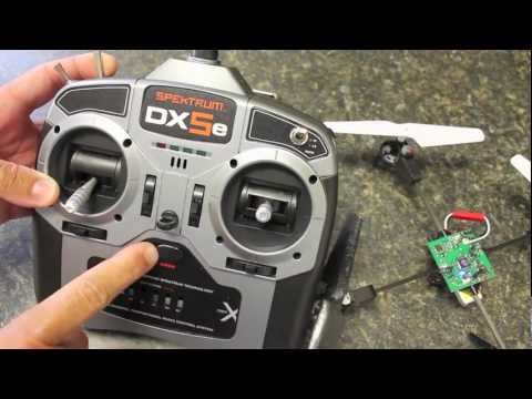Binding a Spektrum DX5e with a Blade mQX Quadcopter