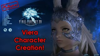 Viera Character Creation! Final Fantasy XIV Shadowbringers Benchmark!