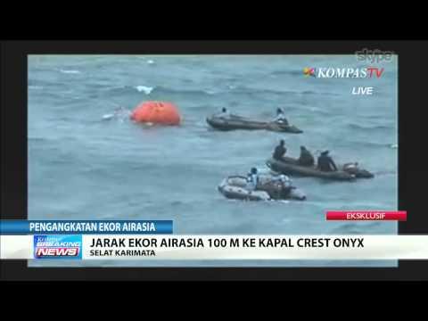 Breaking News Situasi Pengangkatan Ekor AirAsia QZ 8501
