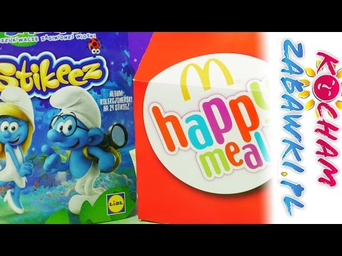 Smerfy Happy Meal + Stikeez - McDonalds & Lidl - Unboxing