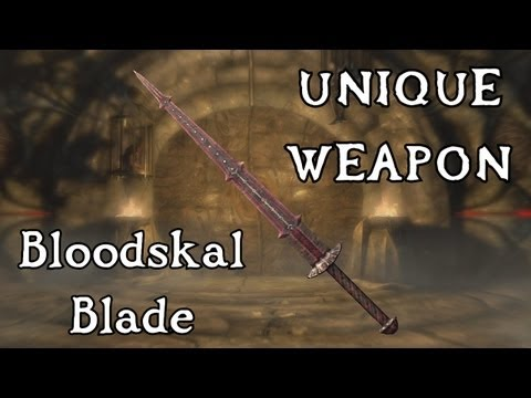 Skyrim: Dragonborn - Unique Weapon: Bloodskal Blade (Side Quest: The Final Descent)