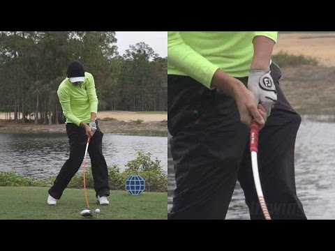 STACY LEWIS - HANDS THRU IMPACT (CLOSE UP) POWER DRIVER SWING 2014 CME TIBURON GOLF COURSE 1080p HD