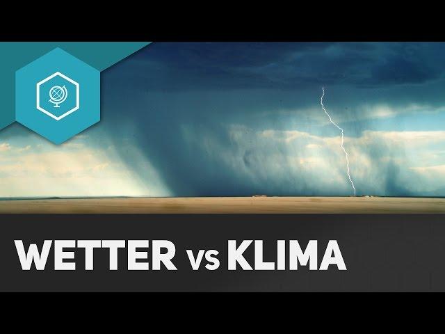Was ist Klima? Was ist Wetter? Unterschied - Klima  Wetter Grundlagen 1