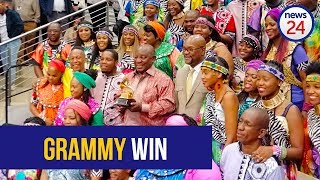 WATCH: Ramaphosa honours Soweto Gospel Choir for Grammy win