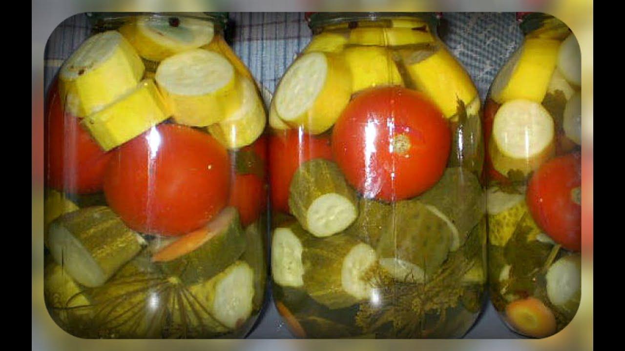 Грузинский салат из помидоров и огурцов 76