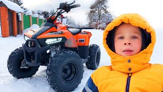 Adventure in Quad Bike Super Lev Ride on Power Wheel Car and Pretend Play Compilation for kids