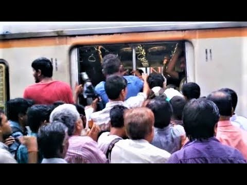 Mumbai Local Train During Peak / Rush Hours Compilation India 2014 [HD VIDEO]