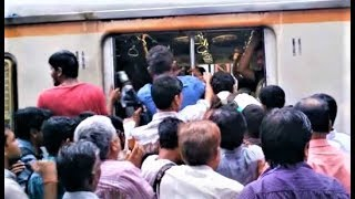 Mumbai Local Train During Peak / Rush Hours Compilation India 2014 [HD VIDEO]