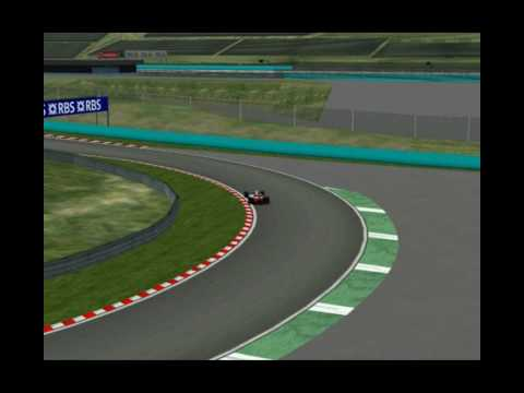 Hurling the legendary McLaren MP4/6 around this weekend's grand prix venue.