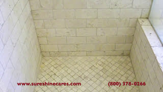 "Tumbled Travertine Shower Cleaning Newport Beach ""Travertine Cleaning Newport Beach"""