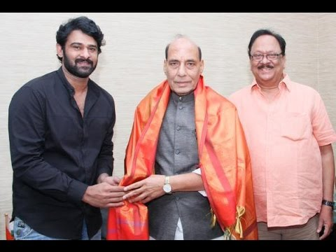 Actor Prabhas meets Central Home Minister Rajnath Singh Photo Image Pic