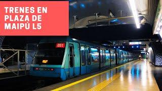 Metro de Santiago   Trenes Alstom NS-74 y NS-93 en Plaza de Maipú (L5)