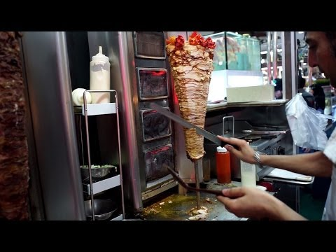 Street Food Turkish Kebab in Bangkok Soi 3/1 Sukhumvit