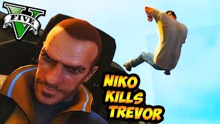 GTA 5 PC Mods - Niko Kills Trevor (GTA 5 Mod Funny Moments)