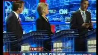 John Edwards attacks Clinton & Obama on Iraq at the debate
