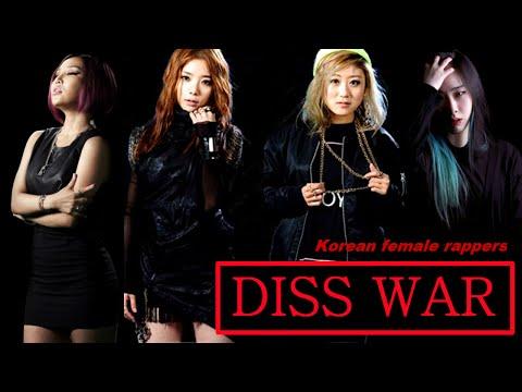 [ENG SUB] DISS WAR - Jolly V, Tymee, Kitti B, Choi Sam - Korean female rappers (2013)