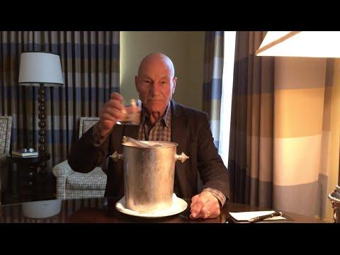 Sir Patrick Stewart's Ice Bucket Challenge