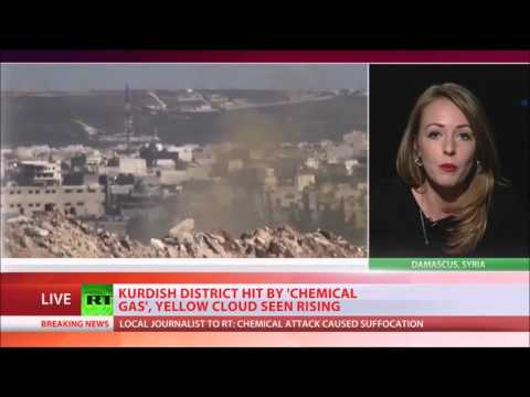 URGENT Aleppo hit by chemical gas attack, yellow cloud seen rising   journo confirms to RT