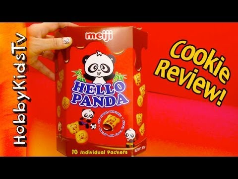 Hello Panda Meiji Brand - Chocolate Cookie - Box Opening and Review