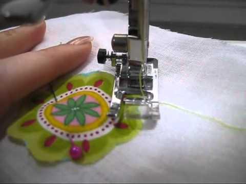 comment coudre motif sur tissu