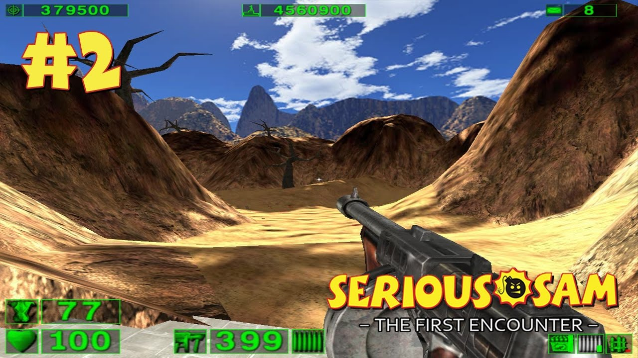Serious Sam: The First Encounter прохождение игры - Уровень 2: Песчаный Каньон (All Secrets Found)