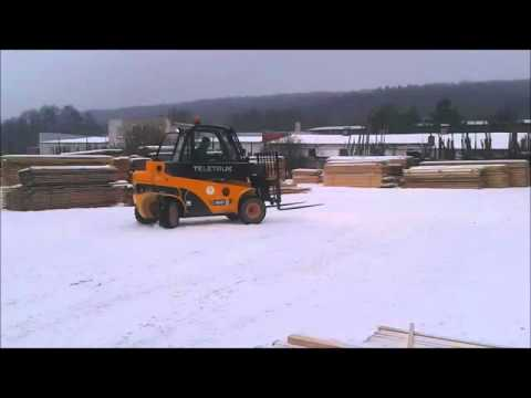 JCB Teletruk 35D 4x4 na snehu