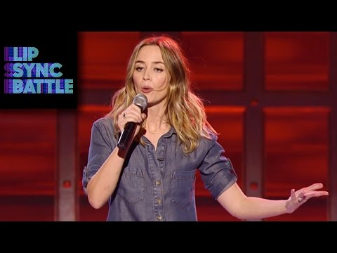 Emily Blunt performs No Diggity on Lip Sync Battle