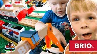 KIDS MEGA CHOO-CHOO TOY TRAIN COMPILATION - Children's Train Videos for kids BRIO Toys