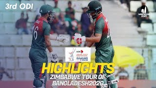 Highlights | Bangladesh vs Zimbabwe | 3rd ODI | Zimbabwe tour of Bangladesh 2020