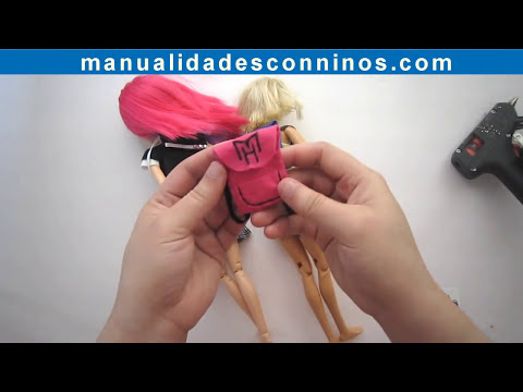 Manualidades para muñecas: Haz útiles escolares en miniatura para muñecas 2da Parte: Mochilas
