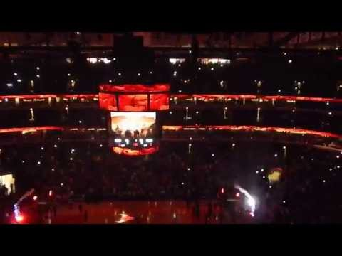 Derrick Rose United Center Comeback Intro Chicago Bulls vs 76ers 4-11-15
