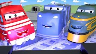 Xe lửa dành cho thiếu nhi - Troy mở RẠP CHIẾU PHIM ở THỊ TRẤN XE LỬA ! - Xe lửa Troy ở thành phố xe