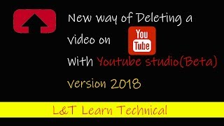 how to delete a video on youtube 2018