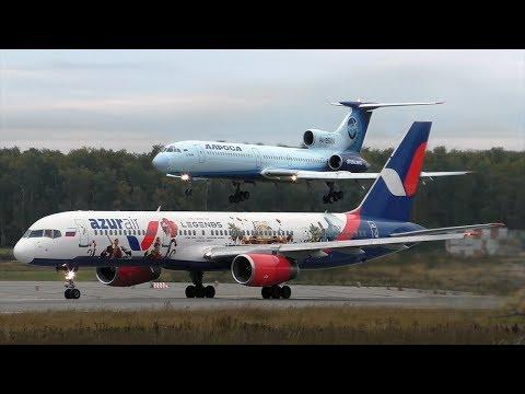 Аэропорт Домодедово  100 взлетов и посадок за 1 час    01.10.2017
