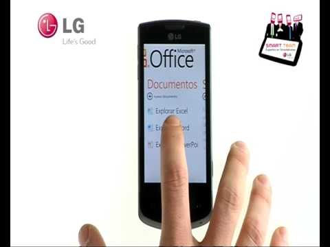 LG Smart Team: cómo editar documentos de Microsft Office en tu LG Optimus 7 con WindowsPhone7